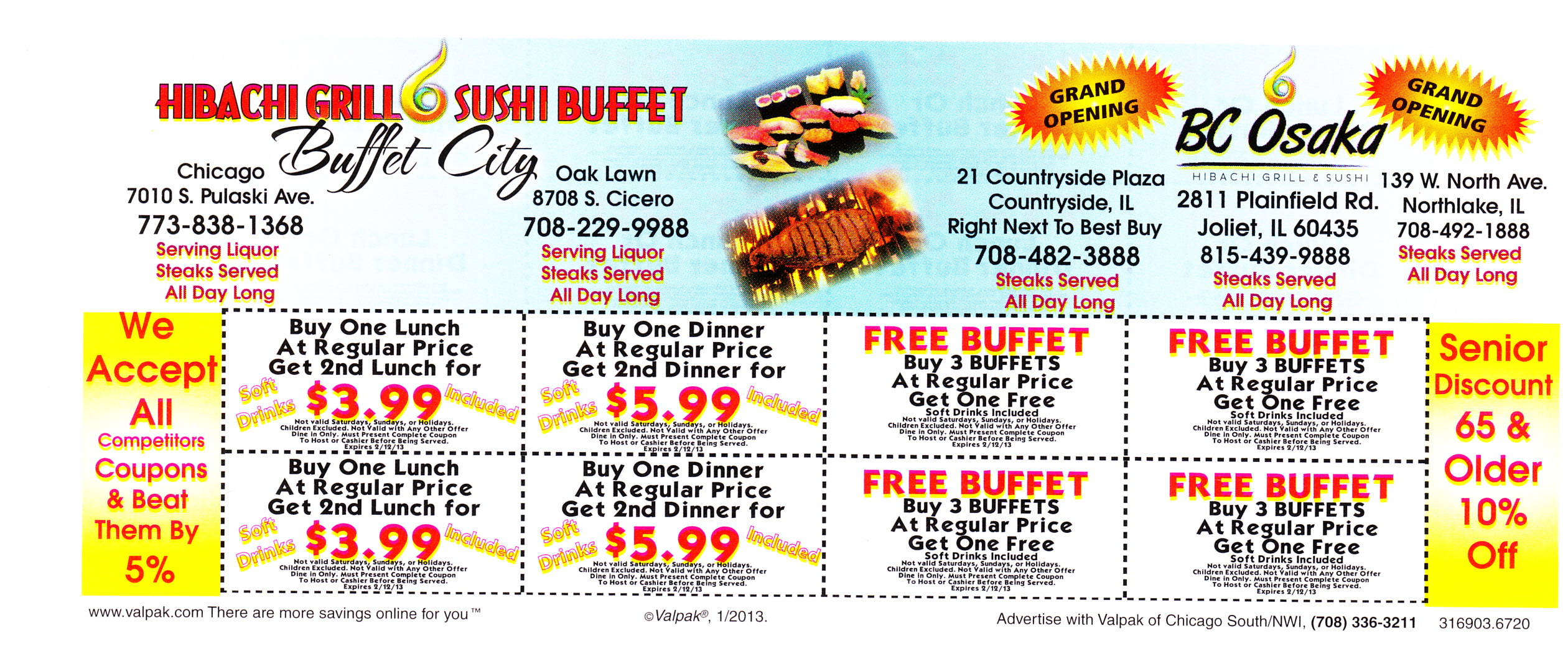 photo regarding Hibachi Grill Supreme Buffet Coupons Printable identify Hibachi grill discount coupons bloomingdale il - Jfk library shop